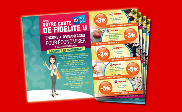 Promotions en boite aux lettres U express La Fleche