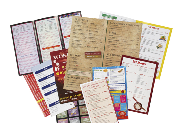 Fast-food Menus Prospectus Carte Restauration rapide Livraison Emporter