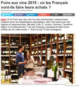 Foire aux vins Article LSA Etude