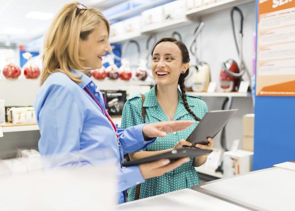 commerce physique électronique magasin électroménager conseil client