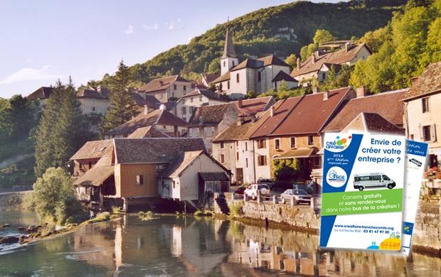L'imprimé publicitaire pour toucher des cibles isolées : la campagne BGE Franche-Comté