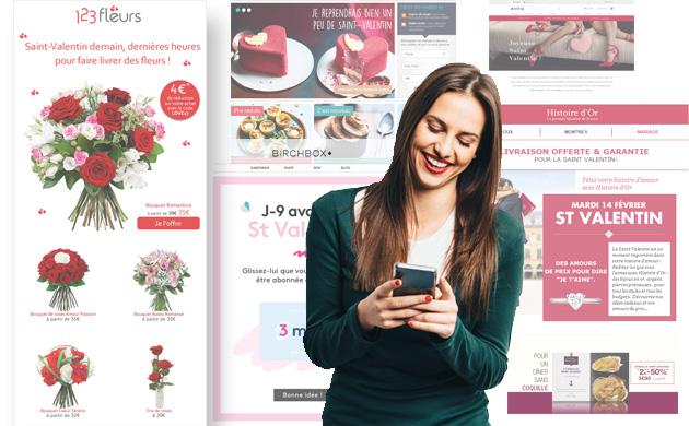 E-mailings St-Valentin : retour sur les campagnes 2017