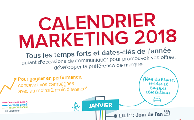 Calendrier Marketing 2018 Calendrier Des événements 2018