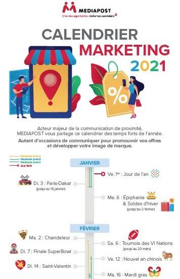 Calendrier marketing 2021 : préparez vos actions !   Le Blog de